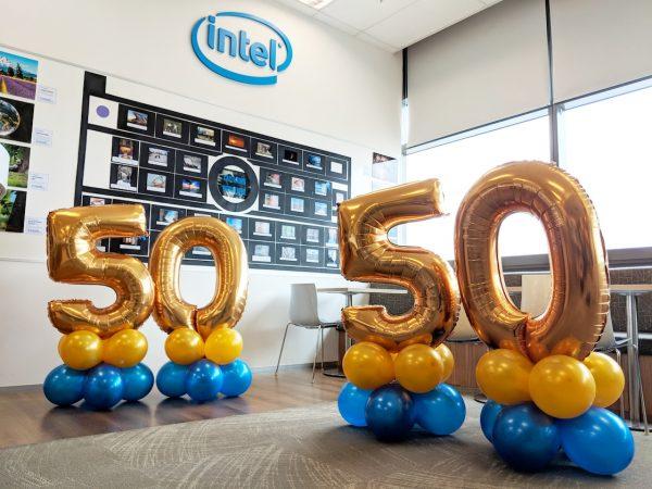 Balloon Decor for Intel Singapore