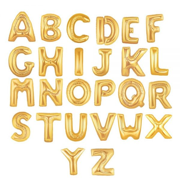 Balloon Gold Letters