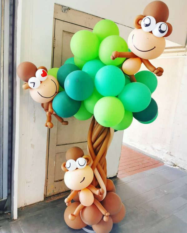 Balloon Monkey on Tree Decoration