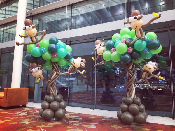 Balloon Monkeys on Tree Display