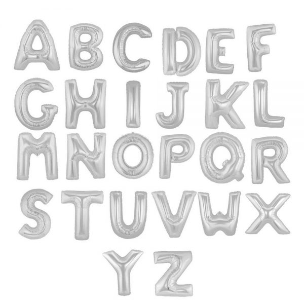 Balloon Silver Letters