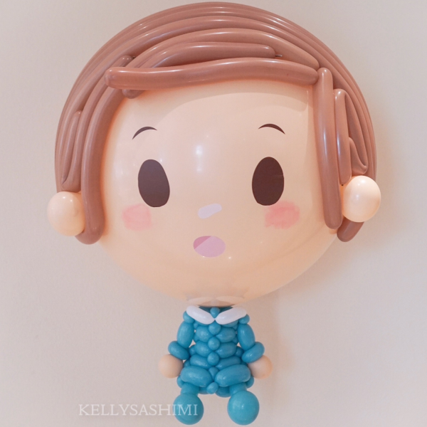 Boy Big Floating Balloon Sculpture