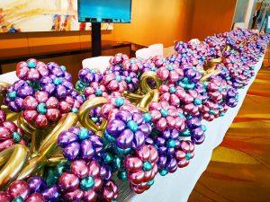 Chrome Balloon Flower Bouquets