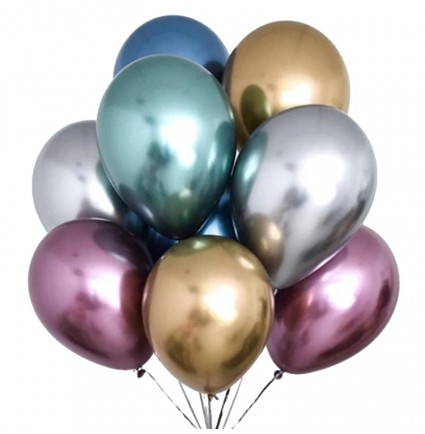 Chrome Helium Balloons Delivery