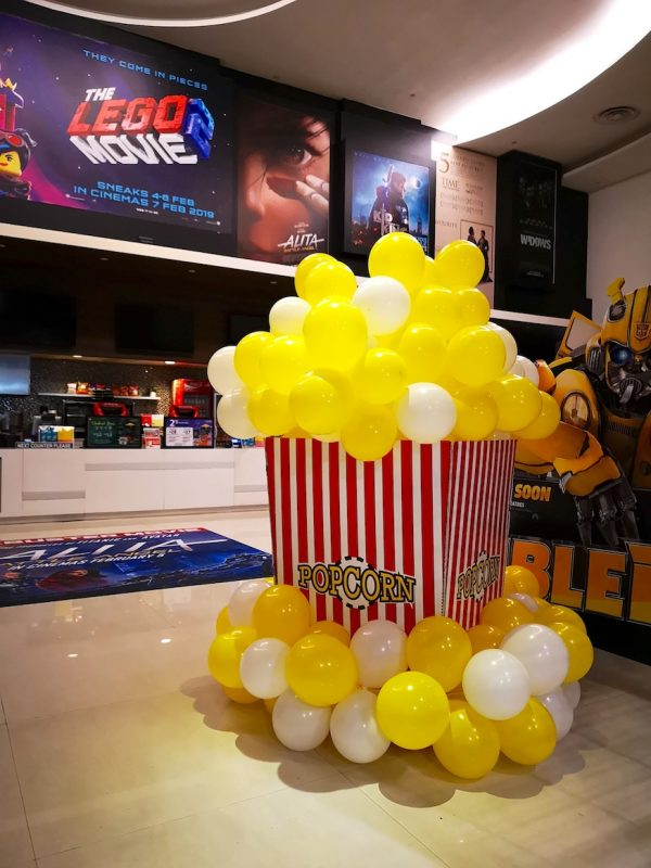 Giant Balloon Popcorn Sculpture