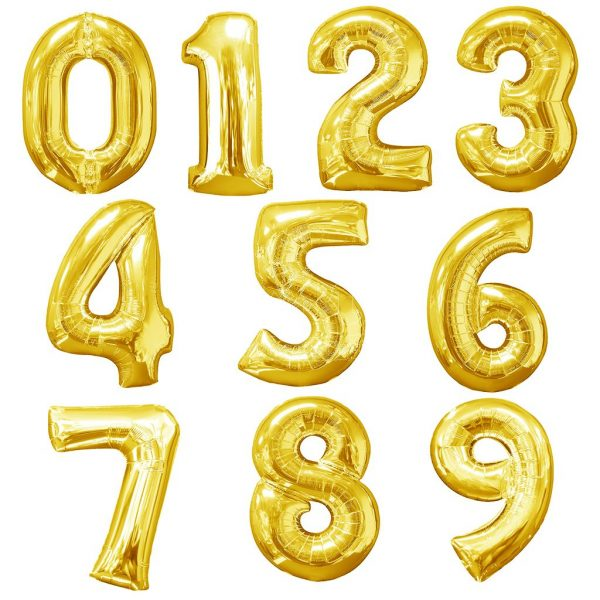 Gold Number Foil Balloon Delivery Singapore