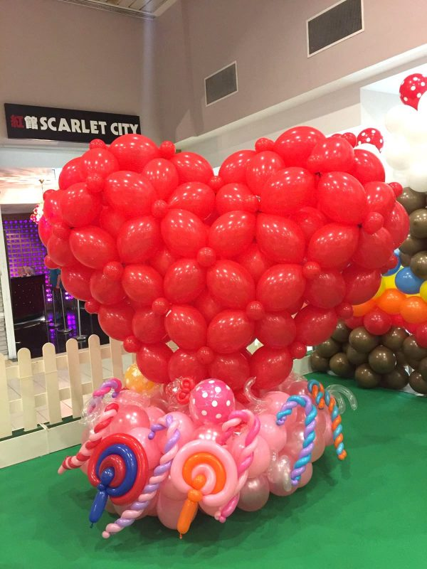 Heart Shape Balloon Display