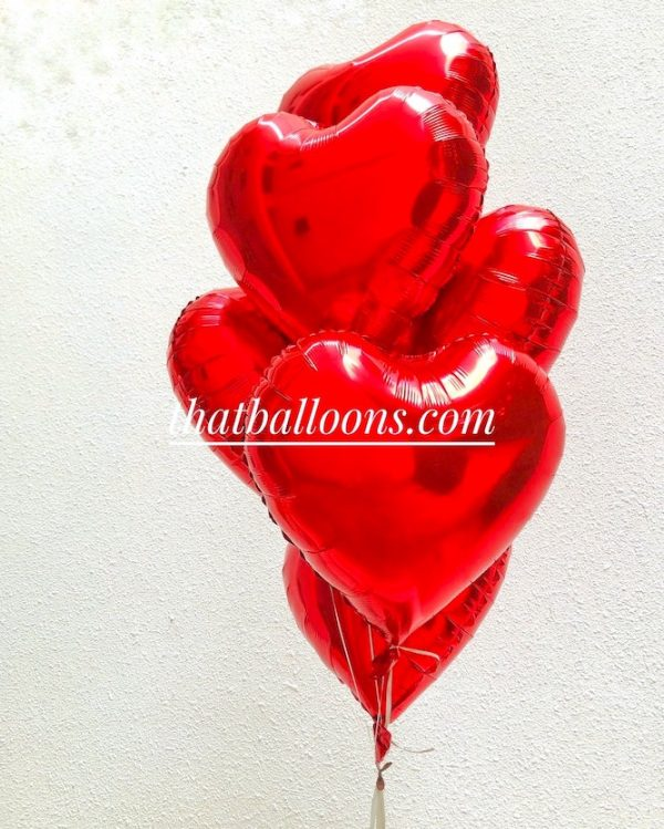 Heart Shape Balloons Delivery in Singapore
