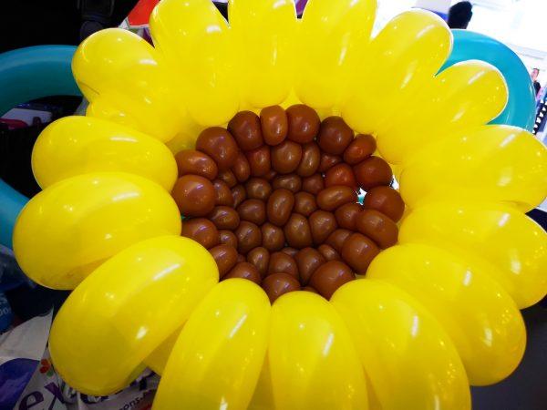 Large Balloon Sunflower Sculpture