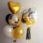 Personalised Balloon Bundle with LED Lights Strip