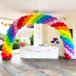 Rainbow Arch Balloons Singapore