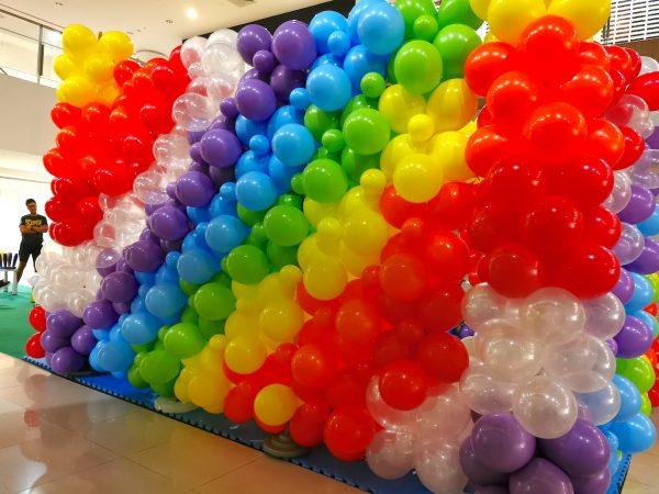 Rainbow Balloon Backdrop Singapore