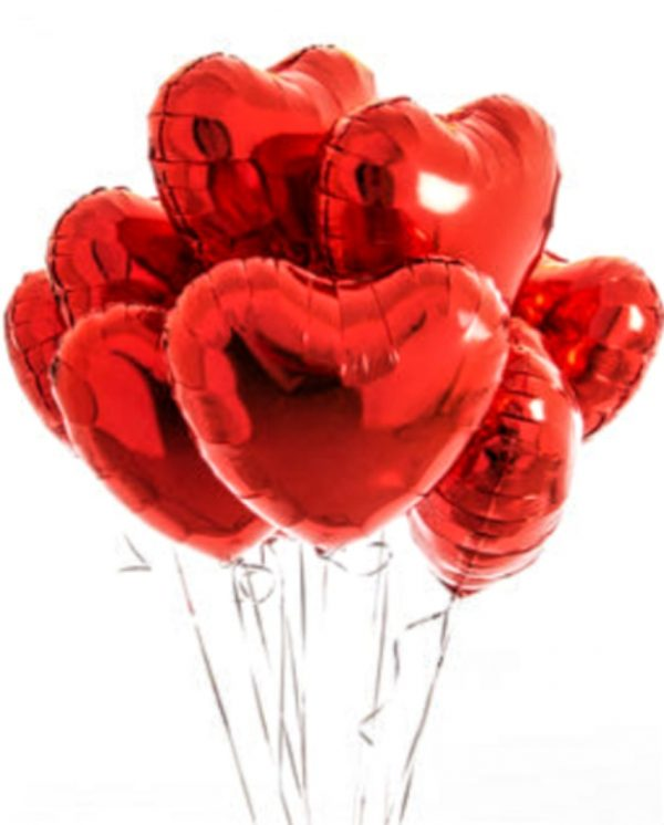 Red Heart Foil Balloon Delivery Singapore