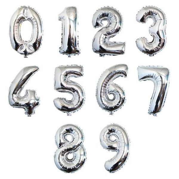 Silver Number Foil Balloon Delivery Singapore