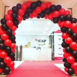 Spiral Balloon Arch for hire Melbourne