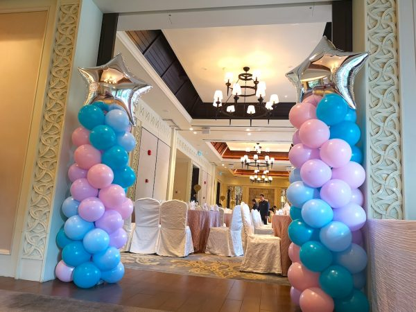 Star Pastel Balloon Columns