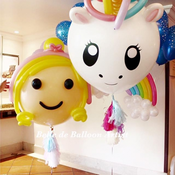 Unicorn Big Floating Balloon Sculpture