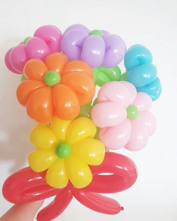Colourful Balloon Flowers Sculpture