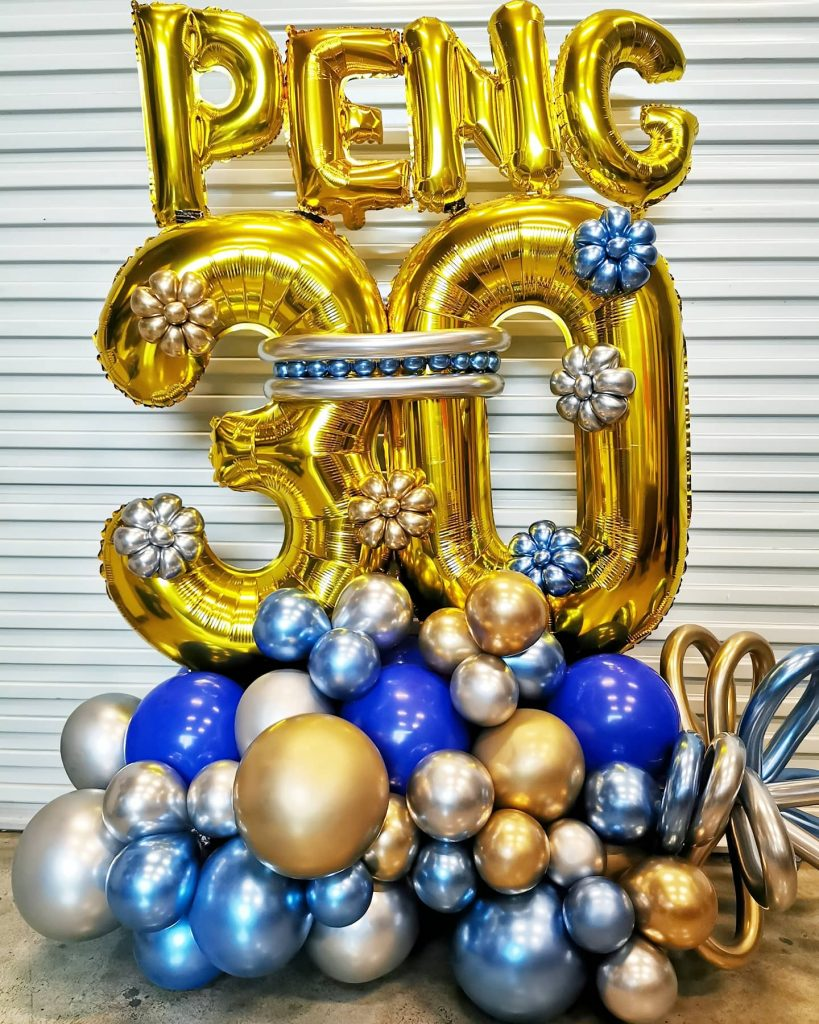 Balloon Number Display Decoration Singapore