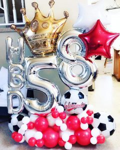 Premium Balloon Foil Number 58 Decor Display
