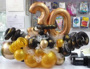 Premium Balloon Number 30 Decor Display