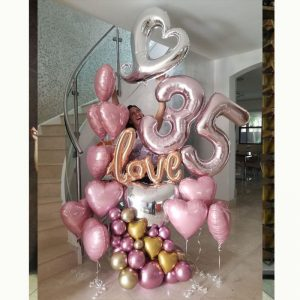 Premium Love Balloon Foil Number 35 Decor Display