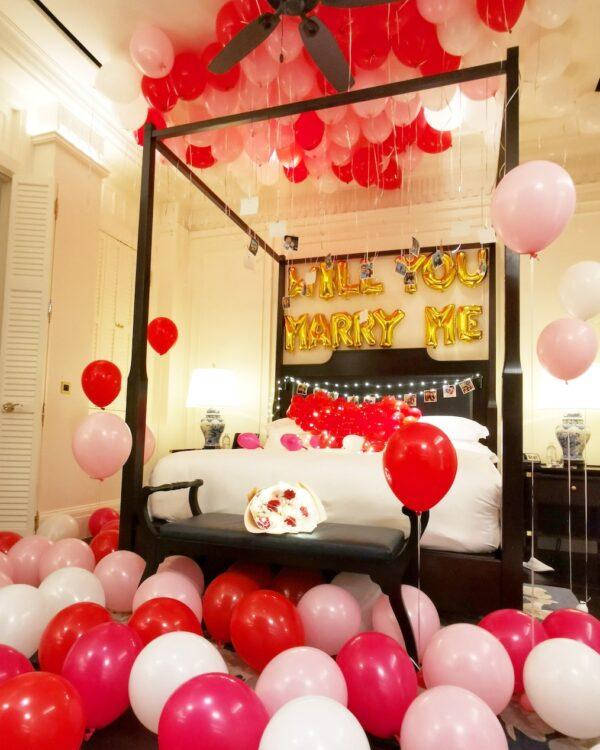 Balloon Room Styling Proposal at Raffles Hotel