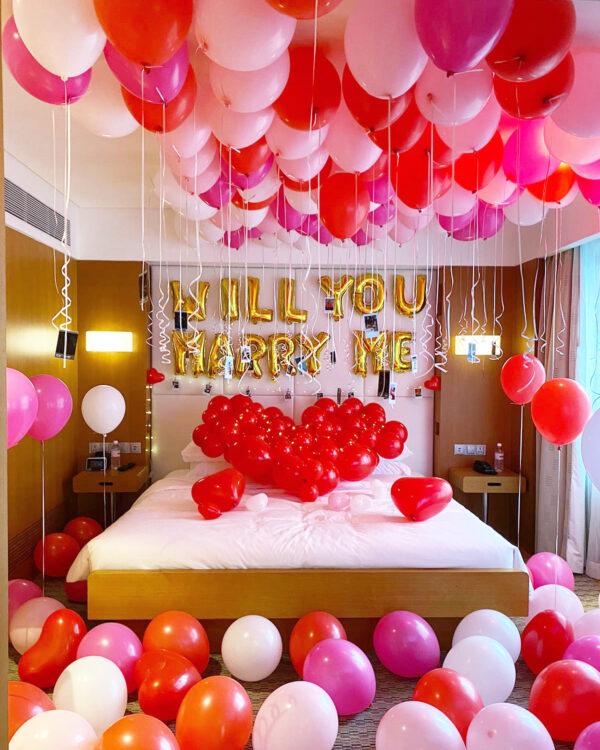 Wedding Proposal Balloon Room Styling Decoration Singapore