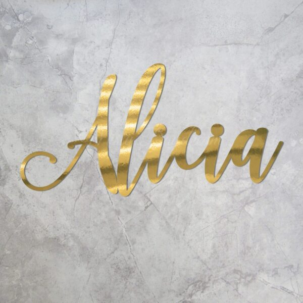 Gold Mirror Cardstock Name Singage