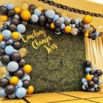 Green Wall Balloon garland for rental Singapore