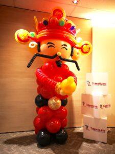 Balloon Cai Shen Ye Sculpture Decoration