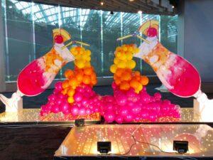 Organic Cocktail Balloon Decoration