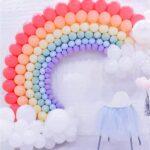 Large Rainbow Balloon Sculpture Decoration