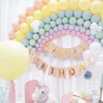 Pastel Rainbow Balloon Sculpture Decoration