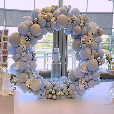 Round Flower Organic Balloon Garland Singapore